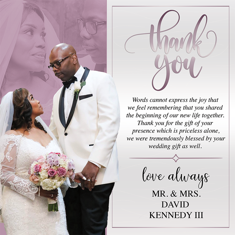Kennedy Wedding Thank You